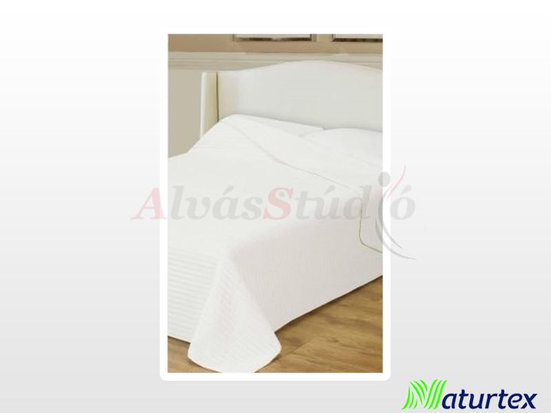 Naturtex Clara microfiber ágytakaró fehér csíkos 235x250 cm