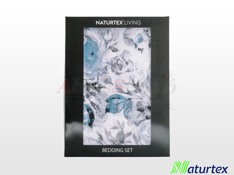 Naturtex 3 részes pamut-szatén ágyneműgarnitúra Blue rose 140x200 cm - 70x90 cm - 40x50 cm