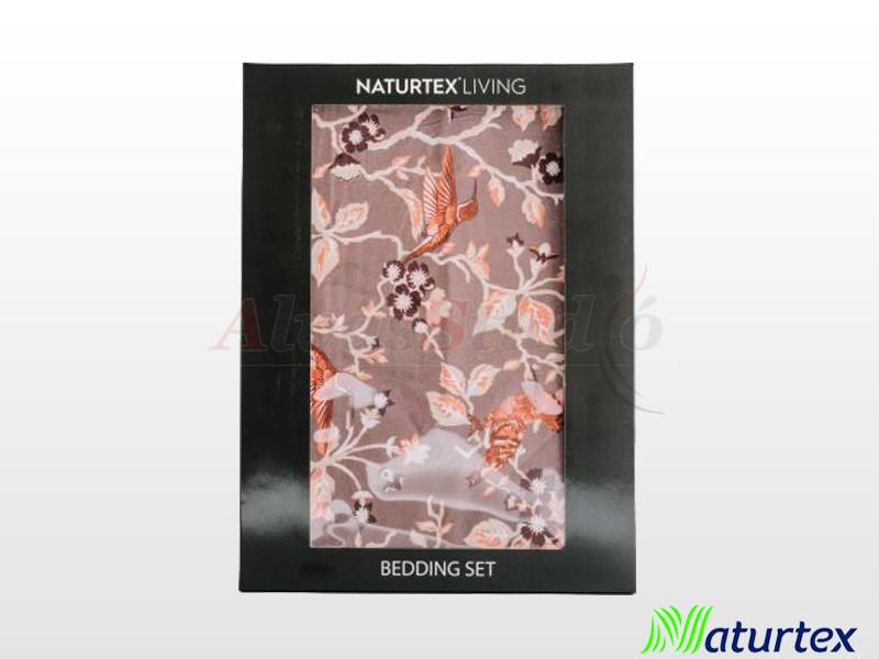 Naturtex 3 részes pamut-szatén ágyneműgarnitúra Floral 140x200 cm - 70x90 cm - 40x50 cm