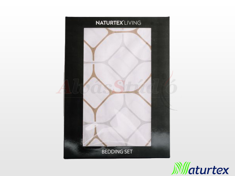 Naturtex 3 részes pamut-szatén ágyneműgarnitúra Honey 140x200 cm - 70x90 cm - 40x50 cm