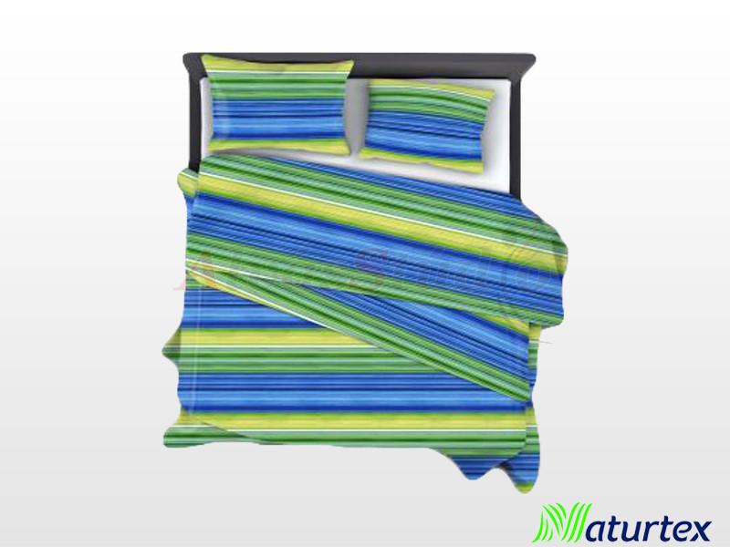Naturtex 3 részes pamut-szatén ágyneműgarnitúra Lime 140x200 cm - 70x90 cm - 40x50 cm