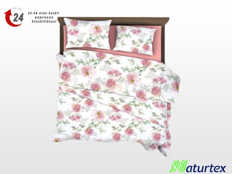 Naturtex 3 részes pamut-szatén ágyneműgarnitúra Pink rose 140x200 cm - 70x90 cm - 40x50 cm