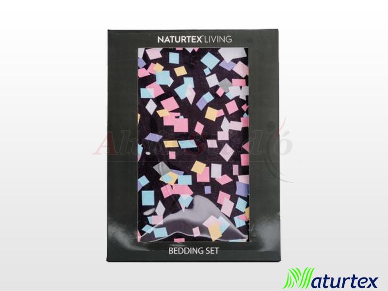 Naturtex 2 részes pamut-szatén ágyneműgarnitúra Party 140x200 cm - 70x90 cm