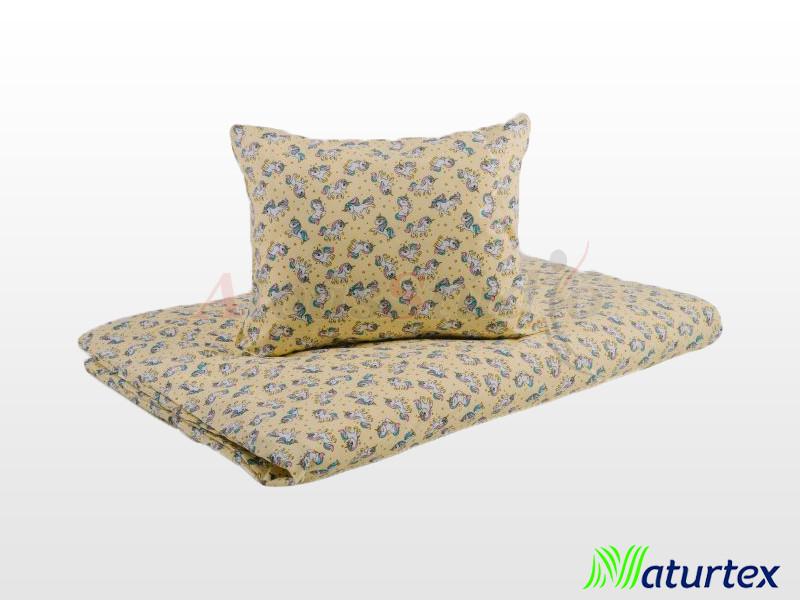 Naturtex 2 részes Sárga unikornis gyermek ágyneműhuzat 90x130 cm - 40x50 cm