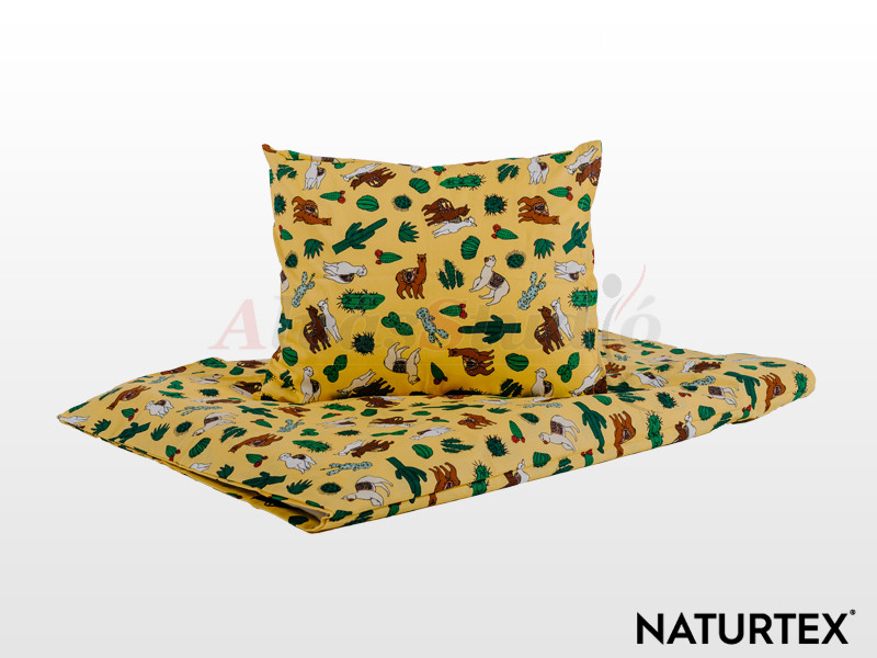 Naturtex 2 részes Láma gyermek ágyneműhuzat 90x130 cm - 40x50 cm