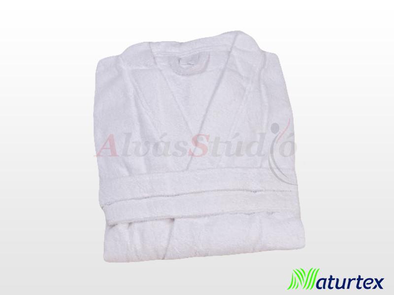 Naturtex Frottír fürdőköntös fehér - méret: 3XL