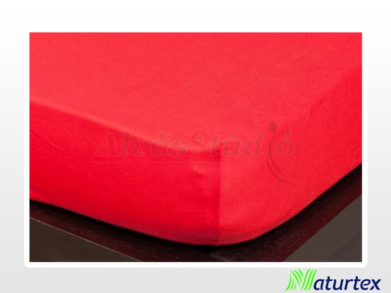 Naturtex Jersey gumis lepedő Piros 140-160x200 cm