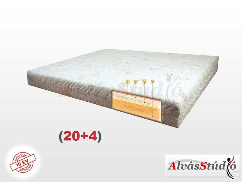 Alvásstúdió Memory Royal Comfort (20+4) memory matrac  80x205 cm Aloe Vera huzattal