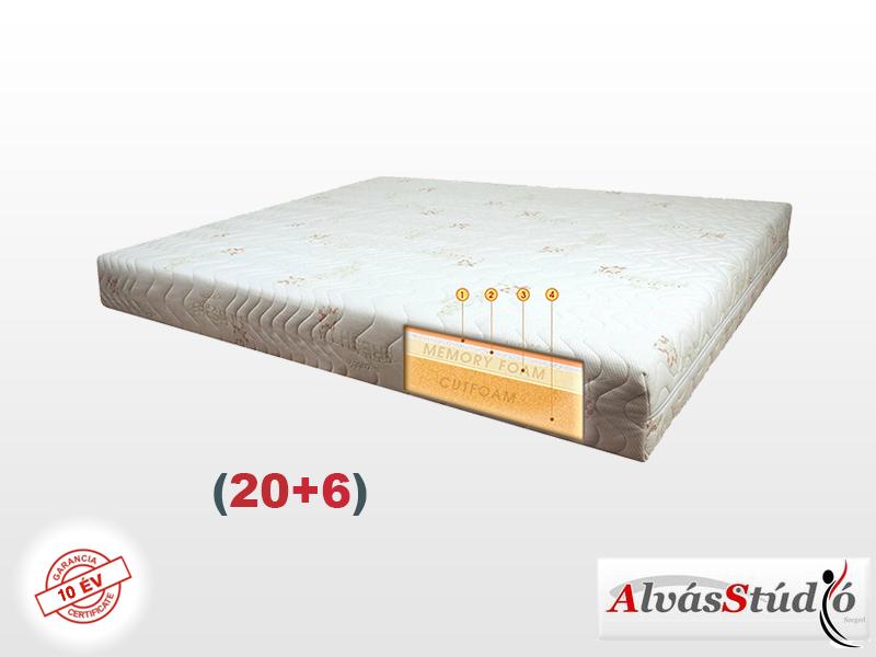 Alvásstúdió Memory Royal Plus (20+6) memory matrac 100x220 cm Aloe Vera huzattal