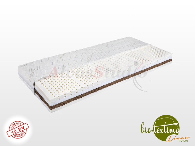 Bio-Textima Lineanatura Royal-4L latex-kókusz bio matrac  90x220 cm SILVER huzattal