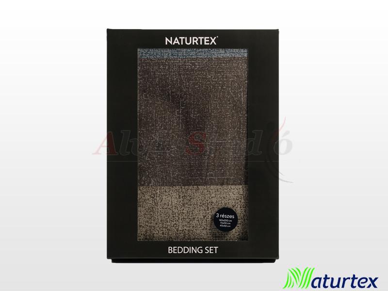 Naturtex 3 részes pamut-szatén ágyneműgarnitúra Dark Grey 140x200 cm - 70x90 cm - 40x50 cm