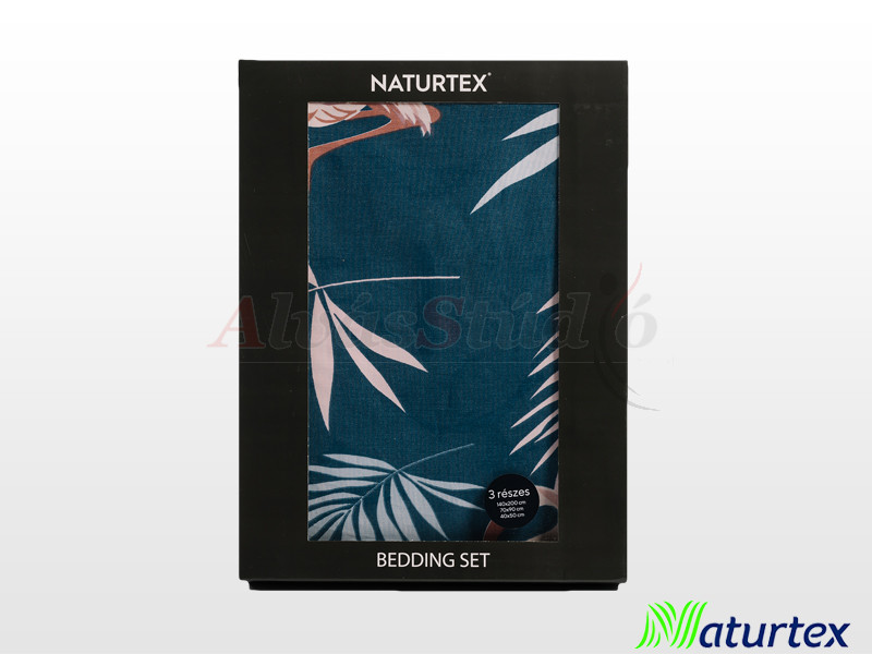 Naturtex 3 részes pamut-szatén ágyneműgarnitúra Flamingo 140x200 cm - 70x90 cm - 40x50 cm