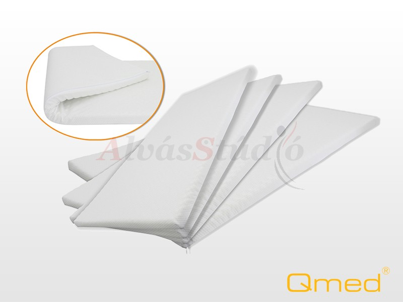QMED memóriahabos fedőmatrac 140x200x4 cm