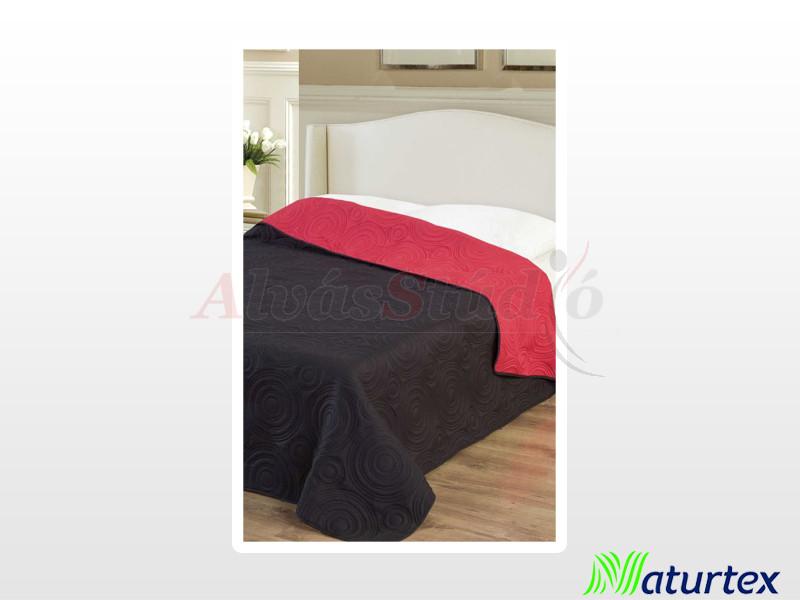 Naturtex Emily microfiber ágytakaró piros-fekete 235x250 cm