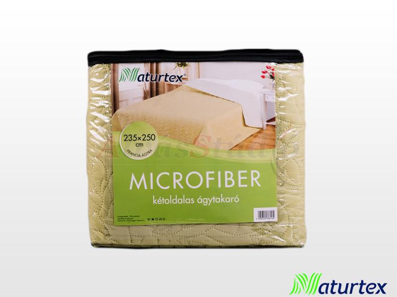 Naturtex Emily microfiber ágytakaró bézs-zöld 235x250 cm
