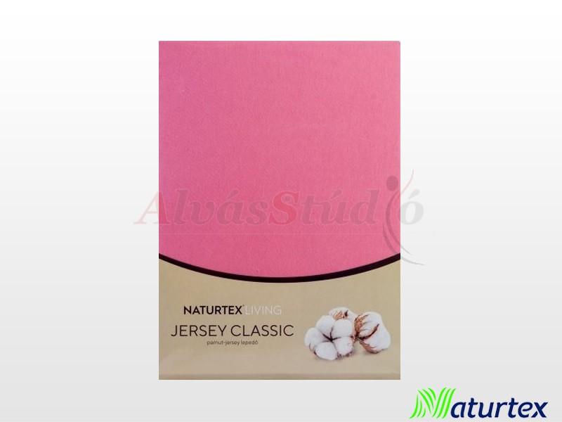 Naturtex Jersey gumis lepedő Matt rózsaszín 180-200x200 cm