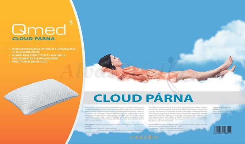 QMED Cloud memóriapehely párna 60x40 cm