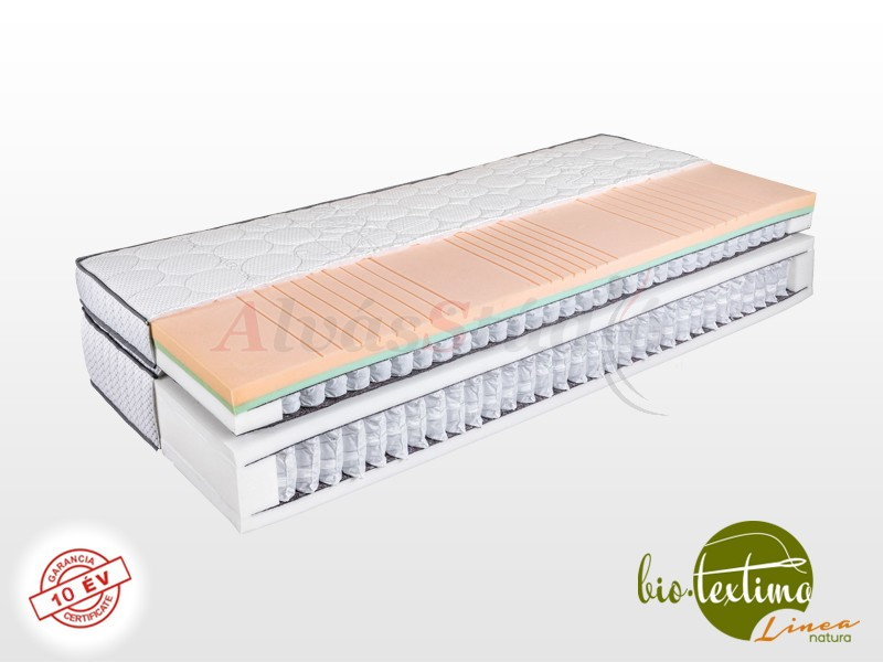 Bio-Textima Lineanatura VarioFeel Royal dupla zsákrugós matrac 140x200 cm Tencel huzattal