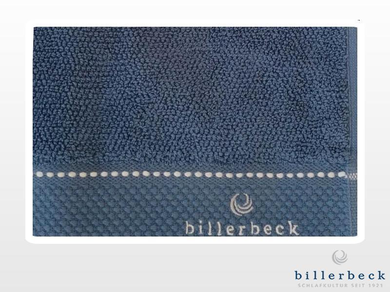 Billerbeck pamut törölköző kék rizs kötéssel 70x140 cm