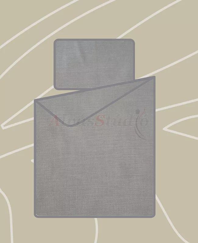 Billerbeck Bianka 3 részes pamut-szatén ágynemű világosszürke 140x200 cm - 70x90 cm - 36x48 cm