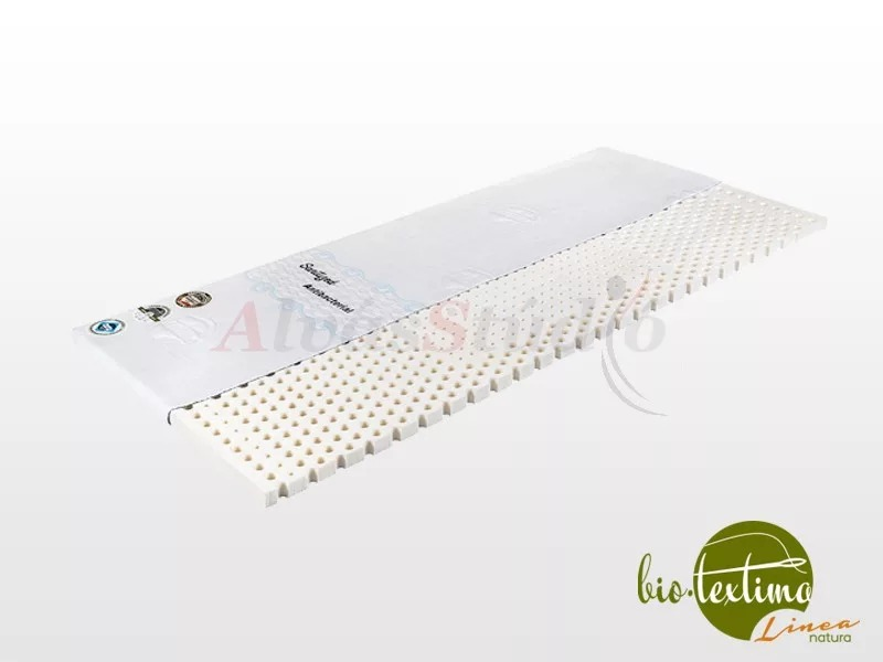 Bio-Textima Lineanatura Latex fedőmatrac 200x200x7 cm Sanitized huzattal