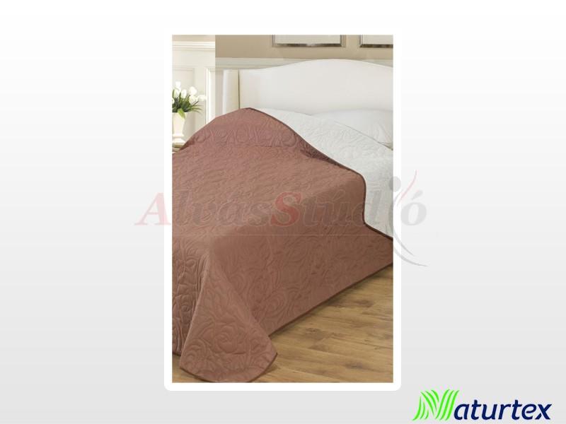 Naturtex Emily microfiber ágytakaró barna-bézs 235x250 cm