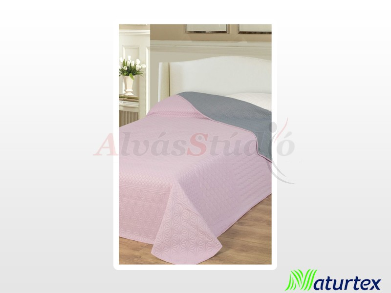 Naturtex Emily microfiber ágytakaró púder-szürke 235x250 cm