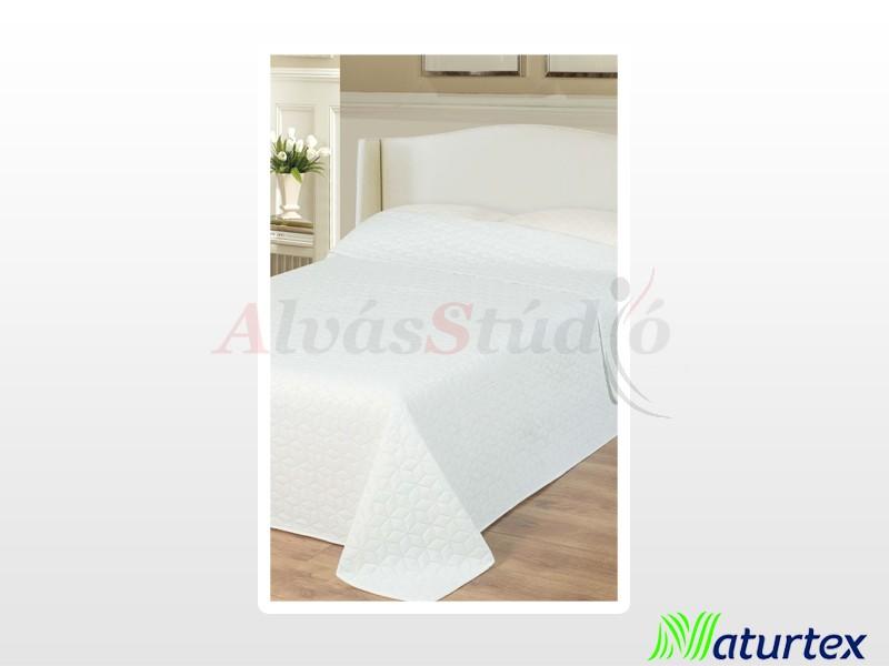 Naturtex Emily microfiber ágytakaró fehér kockás 235x250 cm
