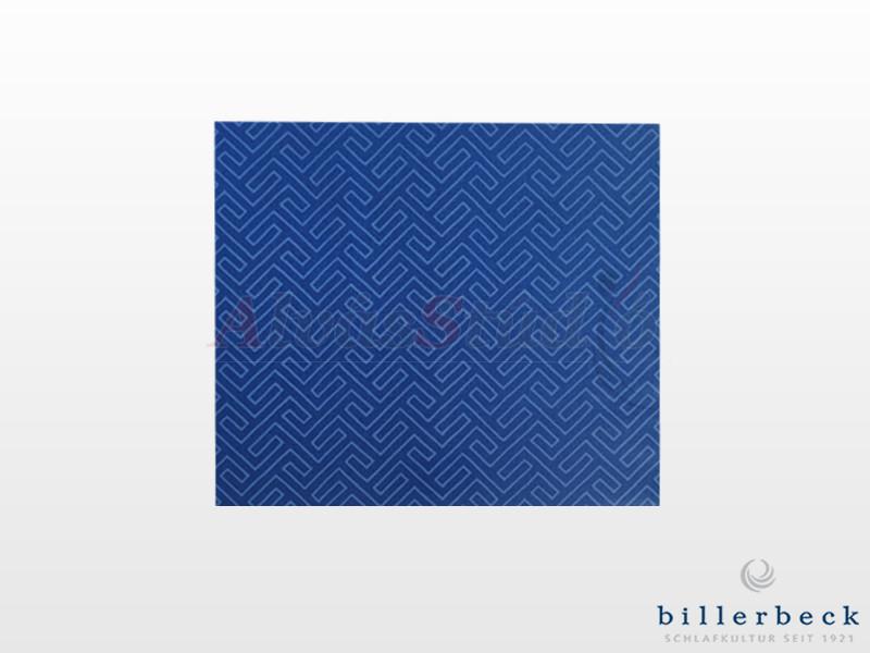 Billerbeck Bianka pamut-szatén félpárna huzat kék- 50x70 cm