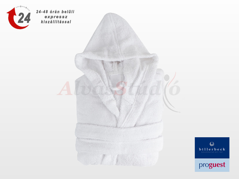 Billerbeck ProGuest gyerek (6-8 év) fürdőköntös fehér