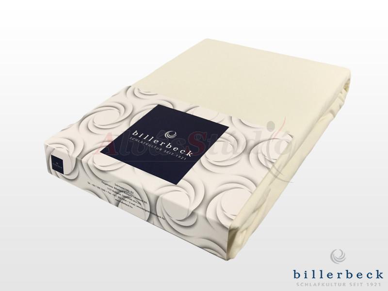 Billerbeck Rebeka Jersey gumis lepedő Panna Cotta  90-100x200 cm
