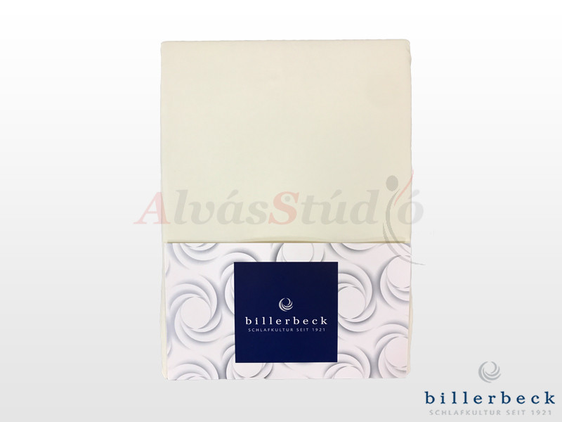 Billerbeck Rebeka Jersey gumis lepedő Panna Cotta 140-160x200 cm
