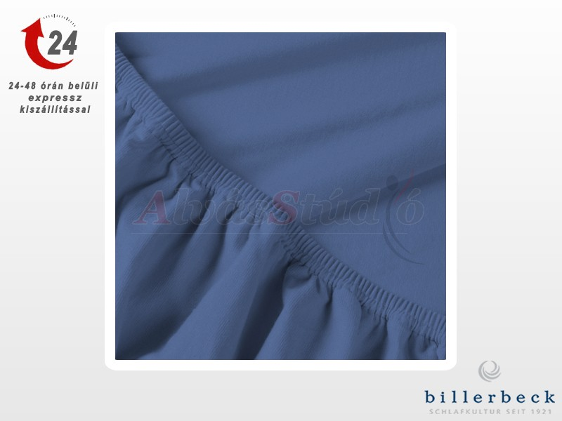 Billerbeck Rebeka Jersey gumis lepedő Szilvahab 140-160x200 cm