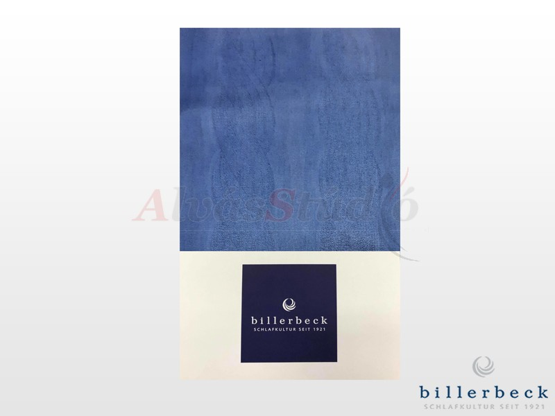 Billerbeck Bianka 3 részes pamut-szatén ágynemű kék mintás 140x200 cm - 70x90 cm - 36x48 cm