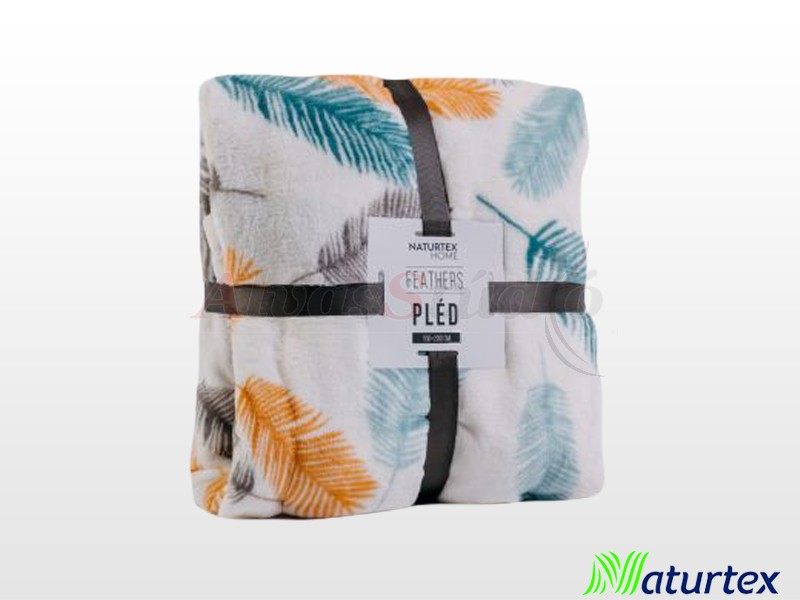 Naturtex Pamut-akril Feathers mintás pléd 150x200 cm