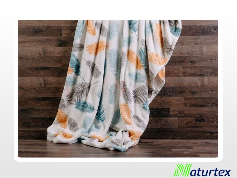Naturtex Pamut-akril Feathers mintás pléd 200x220 cm
