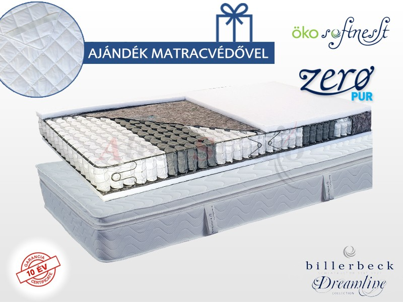 Billerbeck Abbazia zsákrugós matrac  80x200 cm Öko SoftNesst padozattal