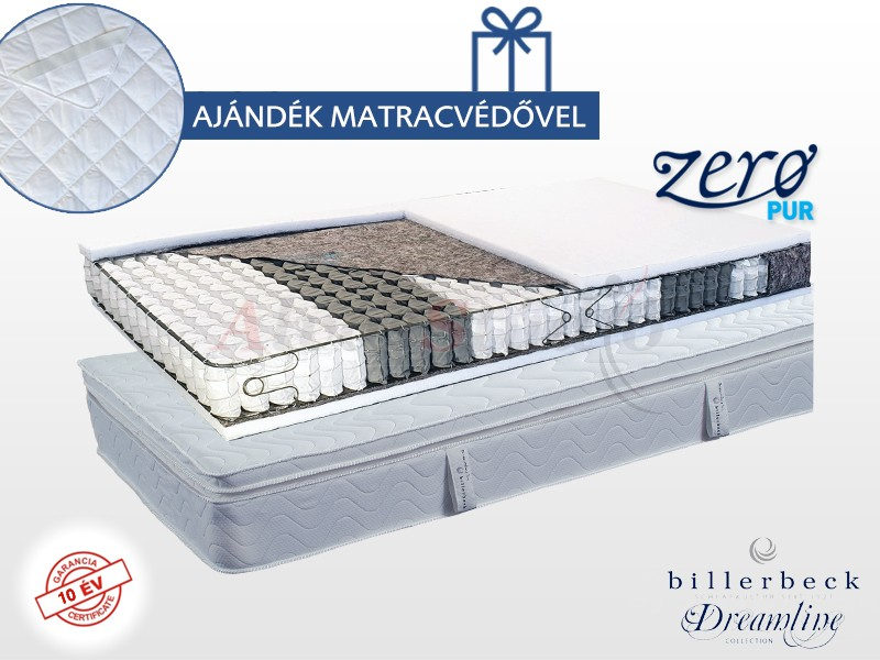 Billerbeck Abbazia zsákrugós matrac  80x200 cm viszkoelasztikus hab padozattal
