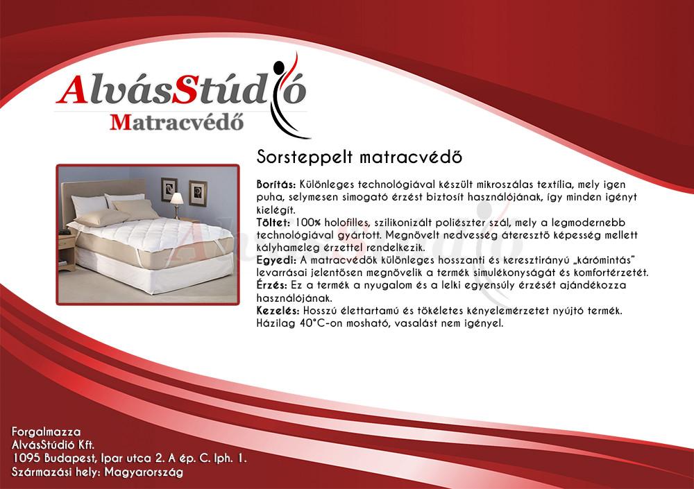 AlvásStúdió Sorsteppelt sarokgumis matracvédő 120x200 cm