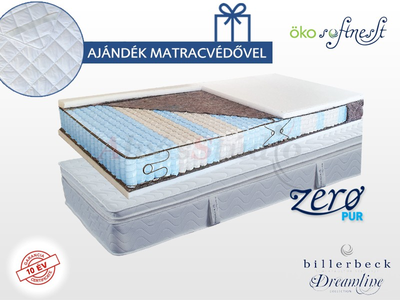 Billerbeck San Remo zsákrugós matrac 140x200 cm Öko SoftNesst padozattal
