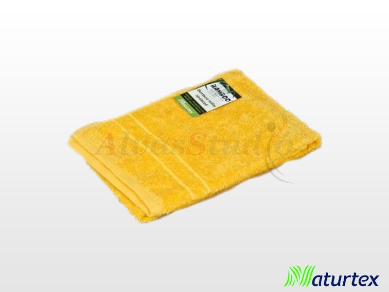 Naturtex Bambuszos törölköző Mustár sárga 50x100 cm