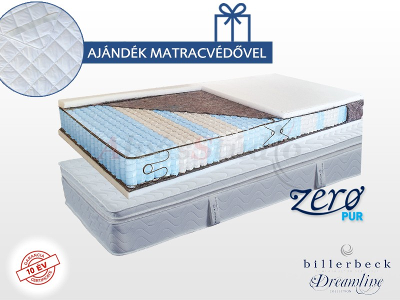 Billerbeck San Remo zsákrugós matrac 140x200 cm viszkoelasztikus hab padozattal