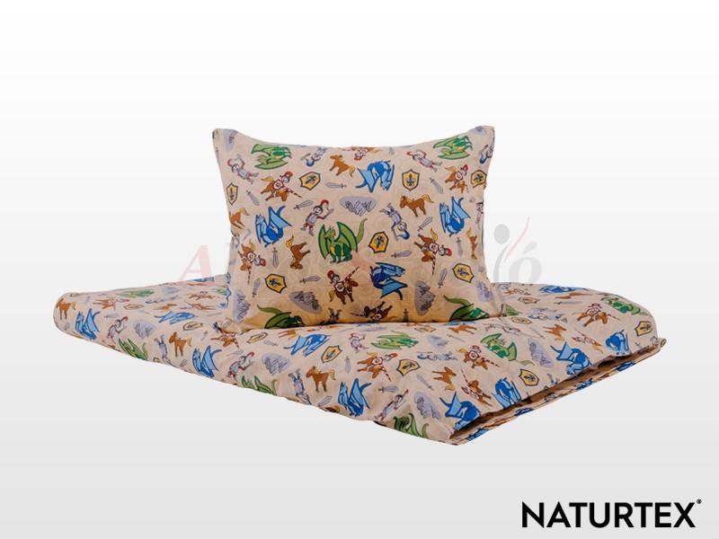 Naturtex 2 részes Mesebeli lovagok gyermek ágyneműhuzat 90x130 cm - 40x50 cm