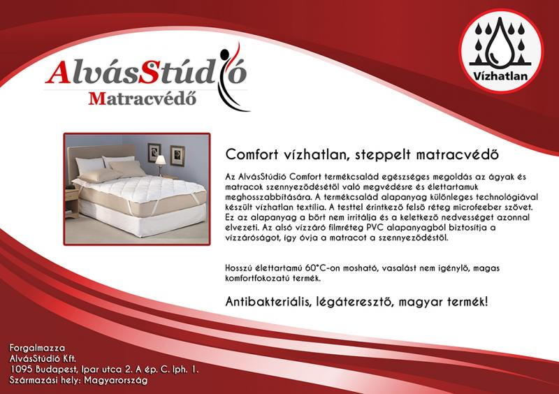 AlvásStúdió Comfort vízhatlan sarokgumis matracvédő  80x200 cm