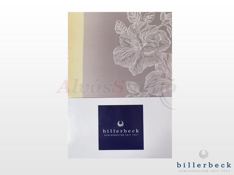 Billerbeck Bianka 3 részes pamut-szatén ágynemű virágos barnás 140x200 cm - 70x90 cm - 36x48 cm
