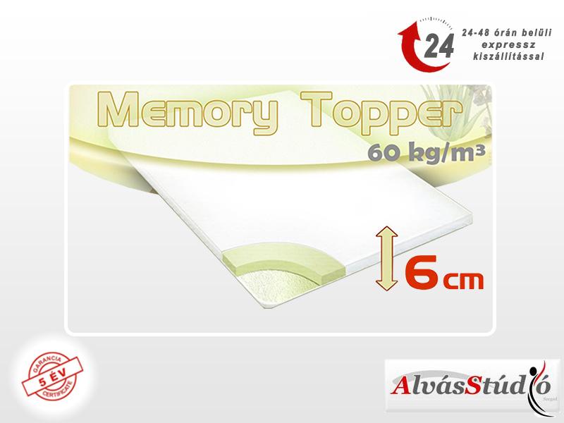 Alvásstúdió memory fedőmatrac 160x200x6 cm akciós huzattal