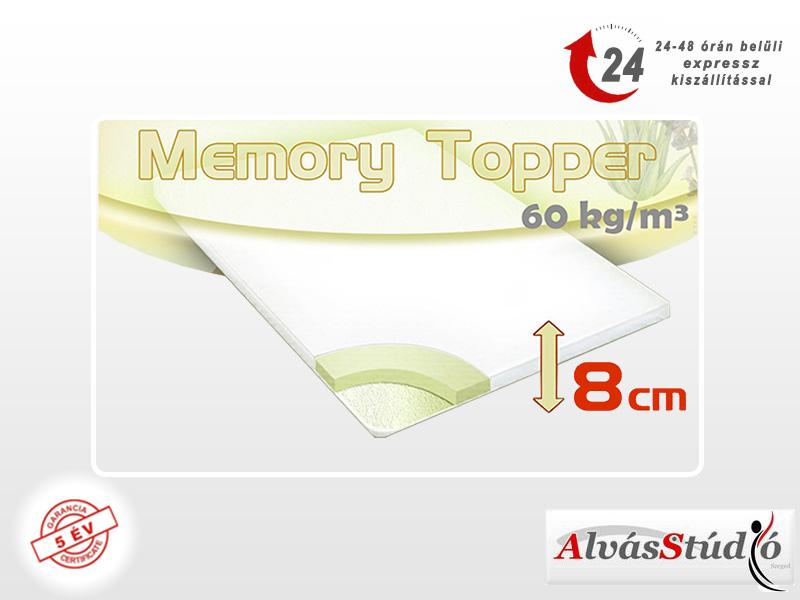 Alvásstúdió memory fedőmatrac 80x200x8 cm akciós huzattal