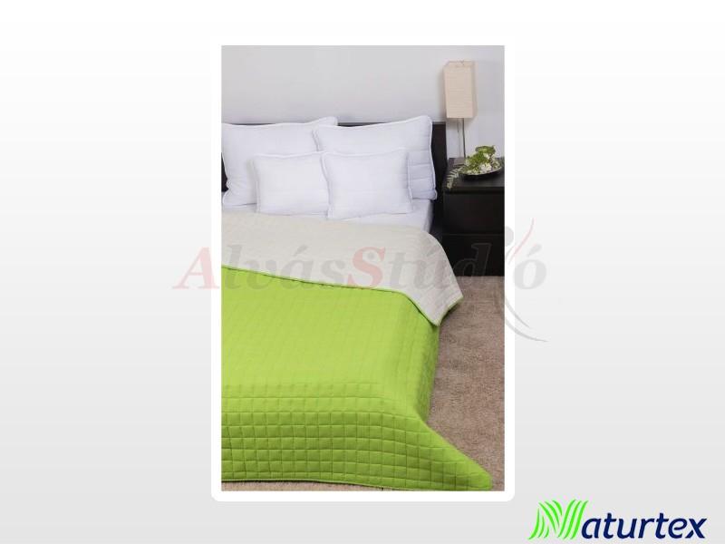 Naturtex Laura microfiber ágytakaró zöld-krém ágytakaró 235x250 cm