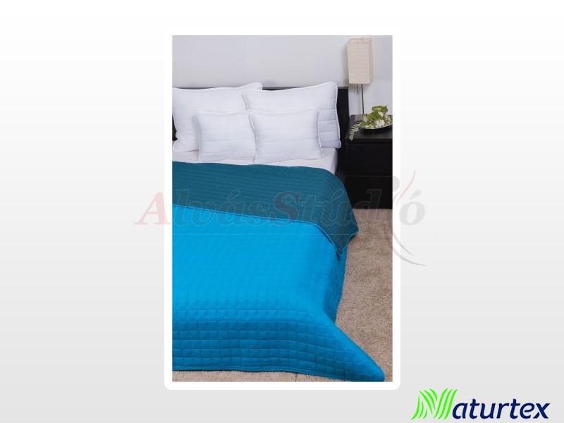 Naturtex Laura microfiber ágytakaró türkizkék 235x250 cm