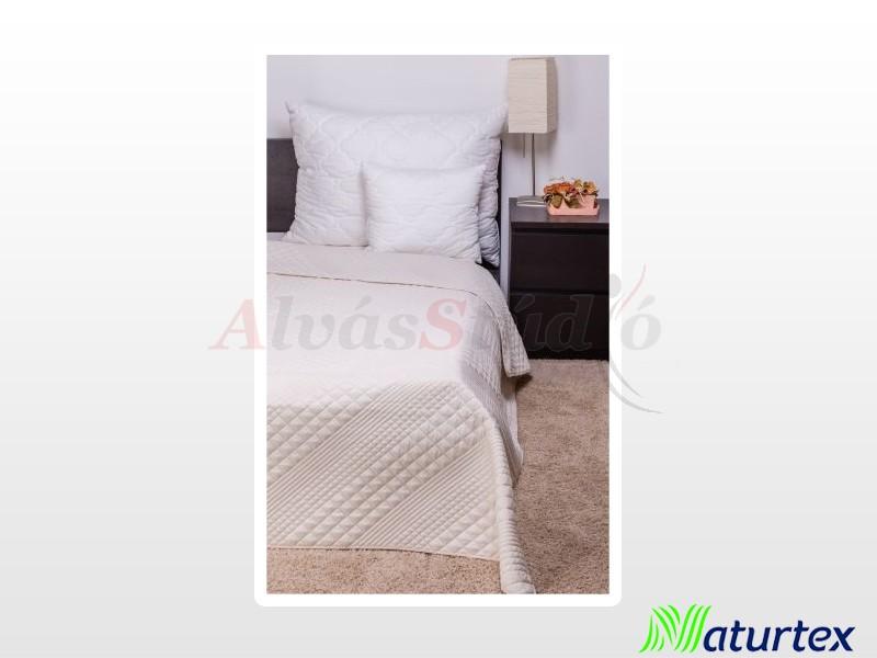Naturtex Clara bézs kocka steppelésű ágytakaró 235x250 cm